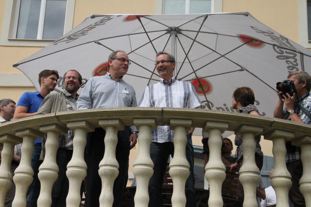 Auf dem Balkon der Burg Lenzen Foto: © Günter Meißner MEDIENINFO-BERLIN